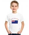 Wit kinder t-shirt Nieuw Zeeland