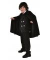 Zwarte verkleed cape voor kinderen